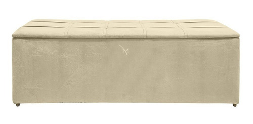 Sofa Calçadeira Baú Para Cama Box 1.40m  Alice Quarto Casal Original