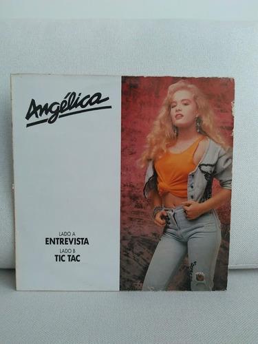 Vinil Lp Disco Angélica Entrevista Tic Tac Promocional 1989 Original