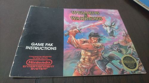 Manual Wizard And Warrios Original Nes