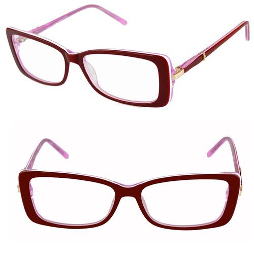 3cc024879 comprar Armação Óculos Grau Feminino Vinho Acetato Isabela Dias 1603 ...