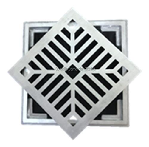 Ralo  Grelha C Suporte  Alumínio Escovado 30x30 Acvent 3043 Original