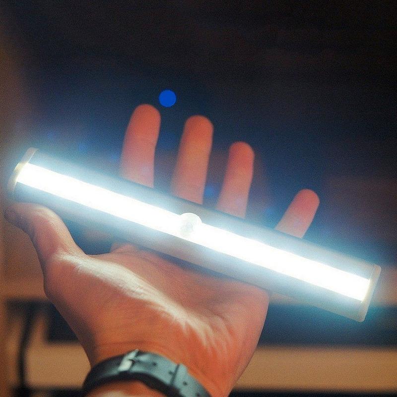 Kit 2 Luminárias Led Fixação 3m 190mm Bateria Rena