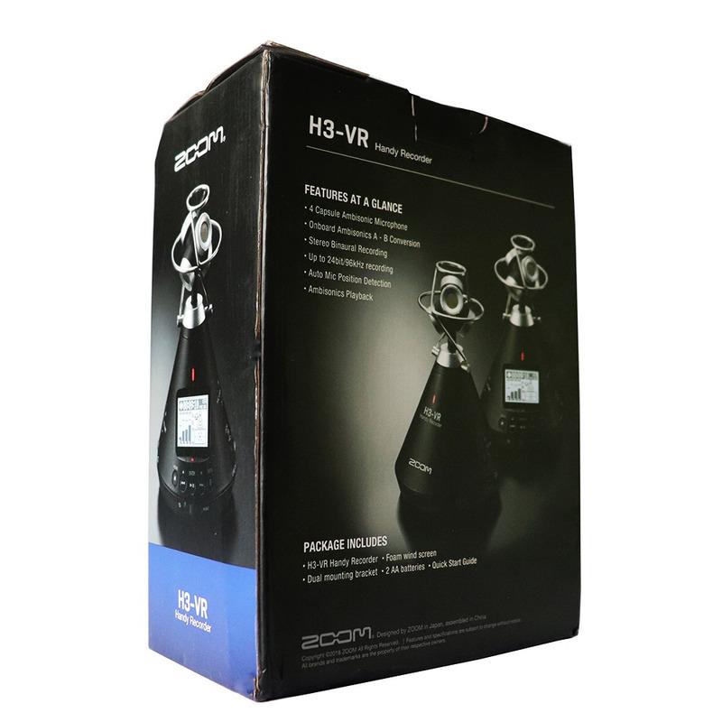Zoom Handy Gravador Digital 360 H3 Vr Ambisonico Binaural