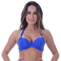 Top Summer Soul Meia Taça Com Bojo e Passantes Azul Royal