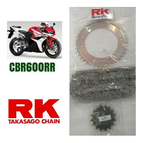 Kit Relaçao Rk Cbr 600rr 2012 Aço 1049  Rk (moto Gp) Original