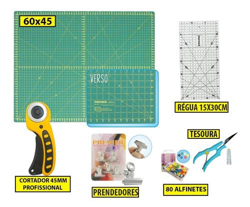Kit Base De Corte 60 +régua 30 +cortador Patchwork,scrapbook Original