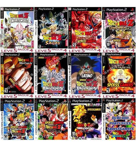 5 Jogos Mod De Dragon Ball Ps2 Patch Escolha Antes Original