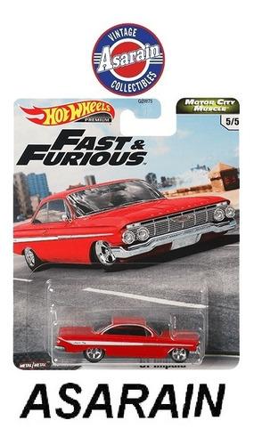 Chevy Impala 1961 Velozes Furiosos Premium Hot Wheels 1/64 Original
