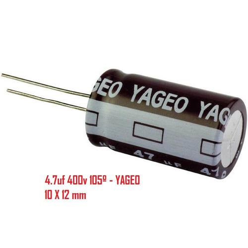 Capacitor Eletrolítico 4,7uf 400v 105ºc - 700 Unidades