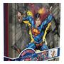 Kit Com Caixa Decorativa Luxo Superman Aventuras Na Lata