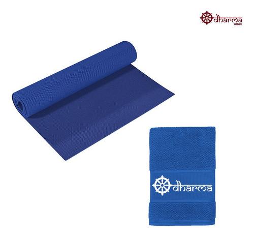 Yoga Mat Azul Céu Com Toalhinha Azul De Acompanhamento