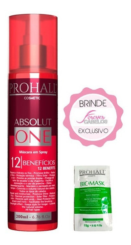 Prohall Cosmetic Absolut One Spray 12 Benefícios 200ml Original