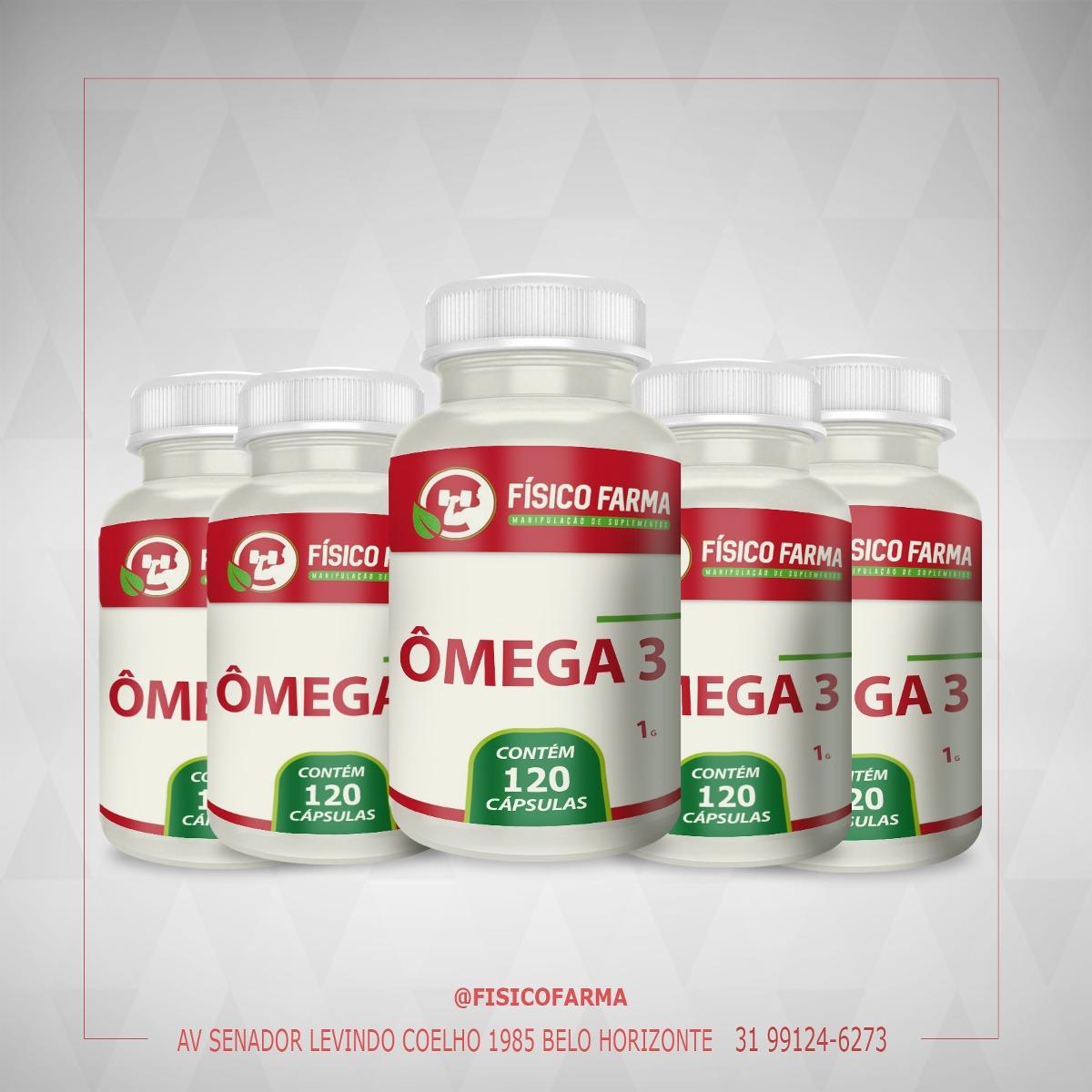 Kit Especial  -  5 frascos de Ômega 3 1g