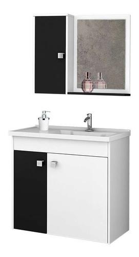 Conjunto Para Banheiro Munique Branco E Preto Original