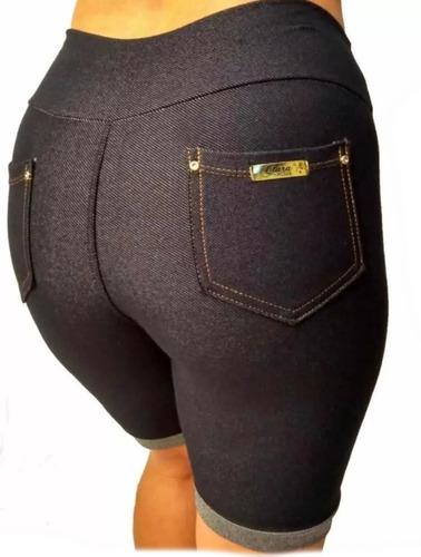 Kit C/5 Bermuda Feminina Cotton Jeans Ciclista Original