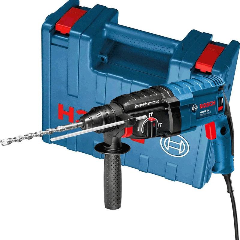 Kit Martelete Rotativo e Perfuração + Acessórios - 112A0 GBH 2-24 D B - Bosch - 110 Volts
