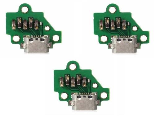 Conector De Carga Moto G3 - 3ª Geração (placa): 3 Peças