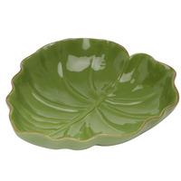 Folha Decorativa de Ceramica Verde 16,2X15,5X4,5Cm-Lyor 4103871