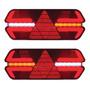 Par Lanterna Triplo X Led 24v Universal Carreta C/ Chicote