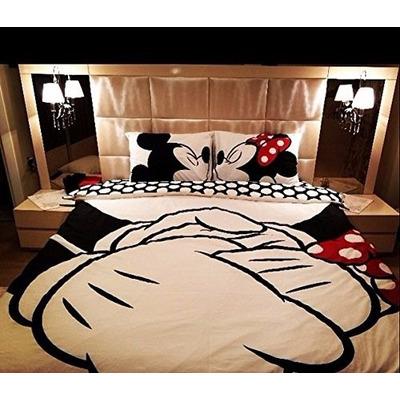 e533c44683 Kit De Jogo De Cama Queen Size - Disney Minnie   Mickey (Casal) a ...