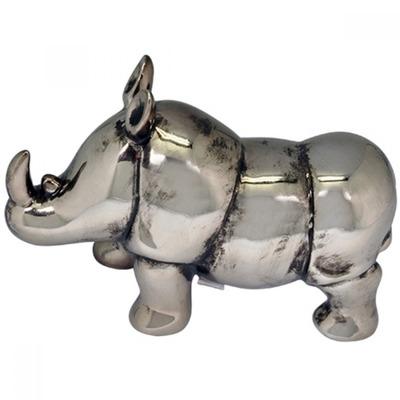Escultura decorativa rinoceronte de resina metalizada r 160 00 em mercado livre - Escultura decorativa ...