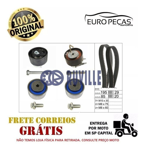 Kit Esticador Correia Range Rover Sport L320 2.7 D 4x4 2005 Original