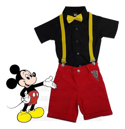 Conjunto Mickey - Aniversario - Festa - Menino - Bebê Original