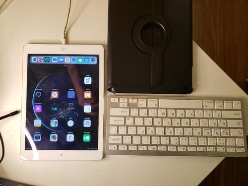 Apple iPad Air 32gb (wi-fi + 4g) Branco + Capa + Teclado Original