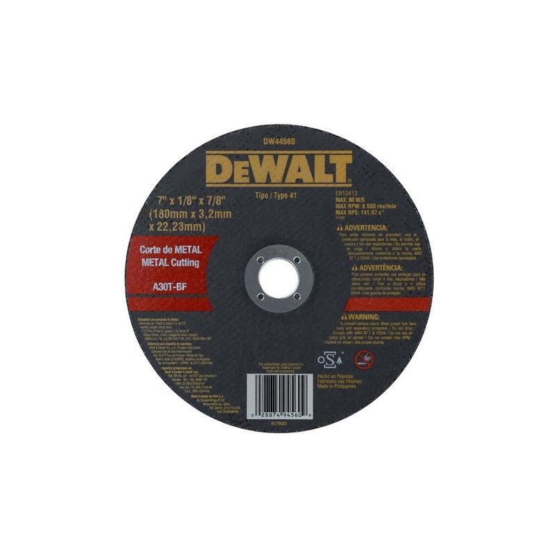 Disco de Corte Metal 7''x 1/8'' x 7/8''-DeWalt