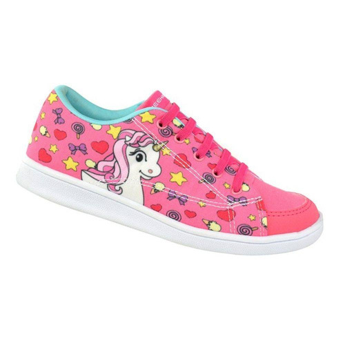Tênis Infantil Bee Happy Unicórnio - Pink / Verde Acqua Original