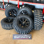 5 Roda 17 Hd 6x139 Or02 Raw Pneu 35x12, 5 Trepador Mt Maxxis