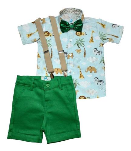Conjunto Social Infantil Safari Azul