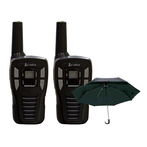 Conj. Rádio Comunicação ( par ) Cxt145 + Guarda Chuva S / frete
