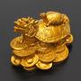 Resina Ouro Feng Shui Dragão Tartaruga Tartaruga Estátua Est