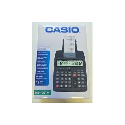 CALCULADORA C/ BOBINA CASIO HR-100TM 12 DIG. - 2.0 LINHAS/SEG. PRETO