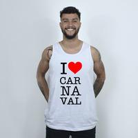 CAMISETA REGATA BRANCA - LOVE CARNAVAL