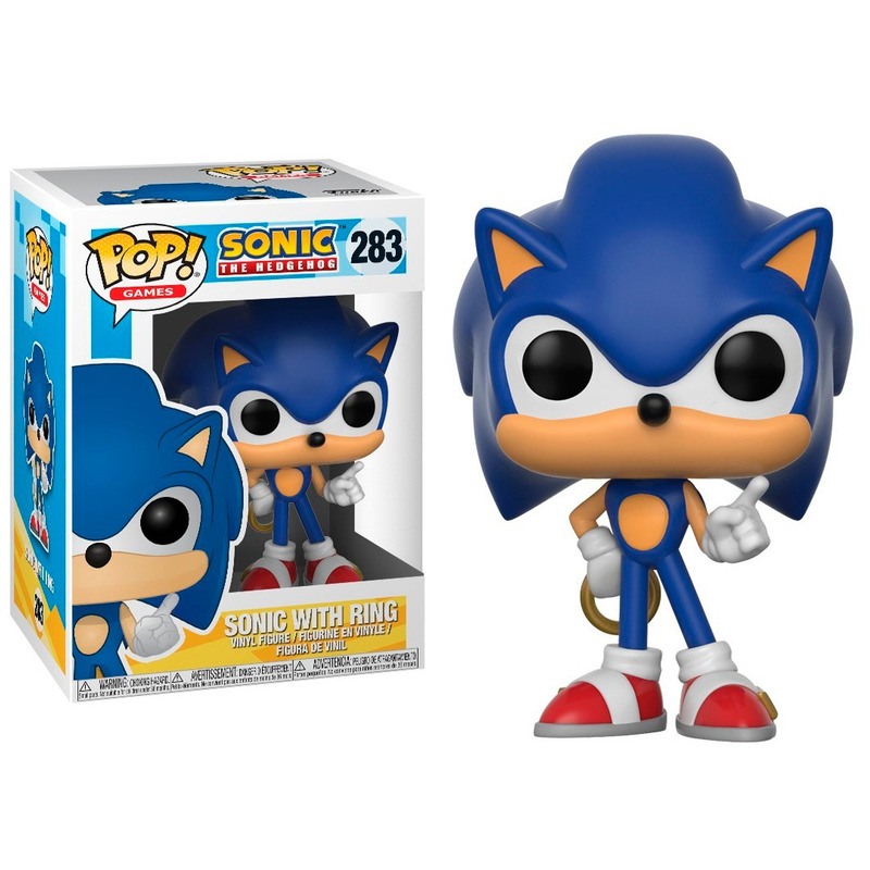 Sonic With Ring Pop Funko #283 - Sonic C/ Anel - Pop Games