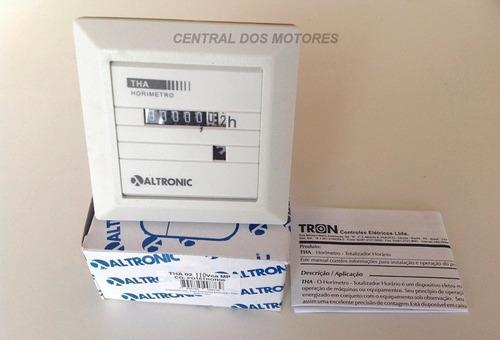 Horímetro Totalizador De Horas Tha-02 110vca Tron Altronic