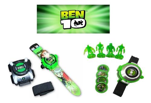 Kit 3 Ben 10 Relógio Omnitrix, Lançador De Discos E Projetor Original