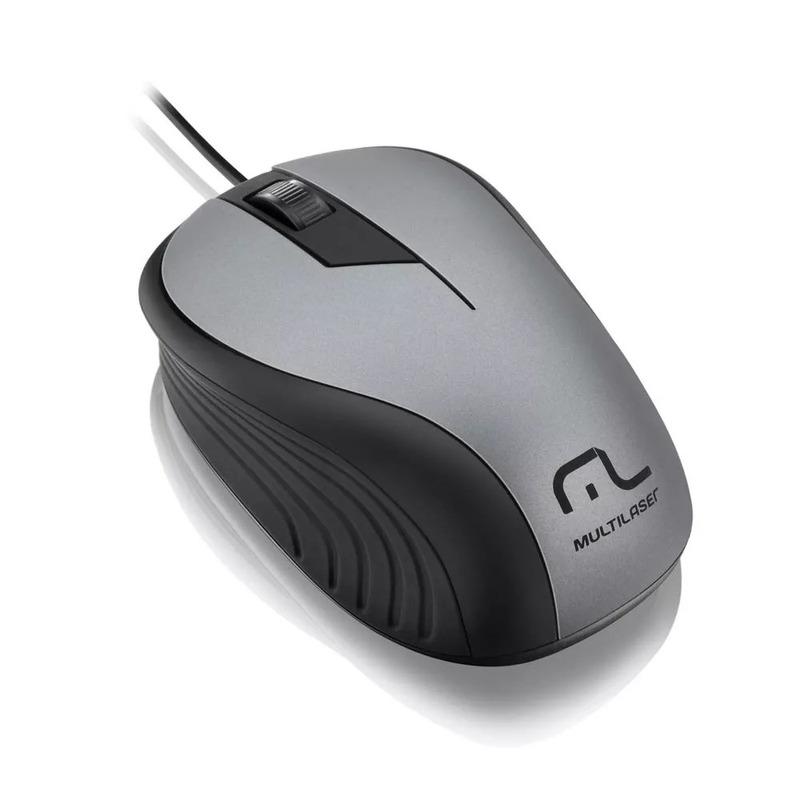 Mouse Cinza 1200 DPI Multilaser  MO225