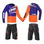 Conjunto Motocross Ims Flex Short E Camisa Preto Laranja