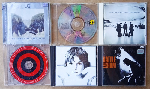 U2 6 Cds Boy, Rattle And Hum, The Best Of Original