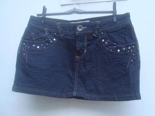 Mini Saia Jeans Com Strass Da Denim Made In Paquistao Tam 38 Original