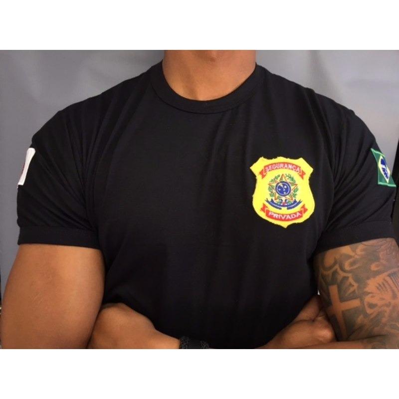Camisa Seguranca Privada - Bordada Preta