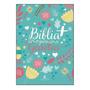 Bíblia Mais Para Garotas Ntlh Rosa Branca Glitter Verde