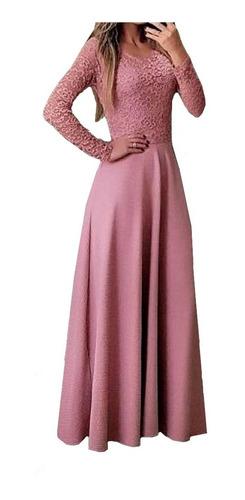Vestido Moda Evangelica Longo Casamento Civil Madrinha N94 Original
