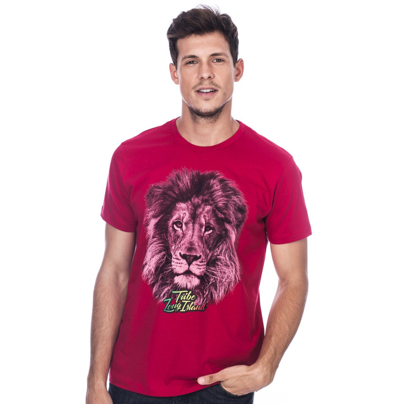 Camiseta Long Island Lion Vermelha