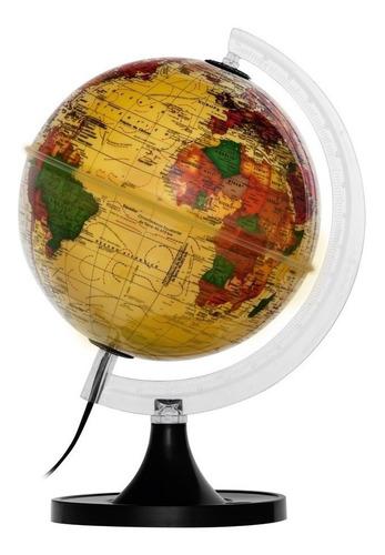 Globo Terrestre Político Mapa Mundi 21cm Led Diversas Cores Original