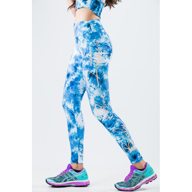 Legging Manuscrito Light Plus Amassado Azul