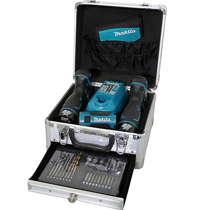 Kit Parafusadeira e Furadeira de Impacto à Bateria + Parafusadeira de Impacto à Bateria TD090D + Mal